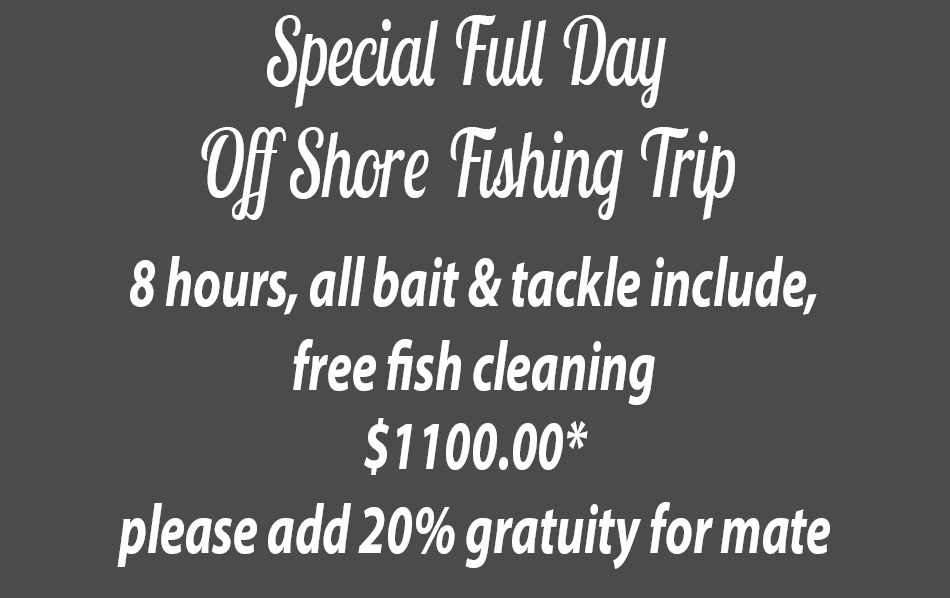 Special Full Day Off Shore Fishing Trip